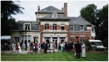 Photographe de mariage au manoir Les Cèdres à Corbehem