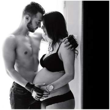 Photographe de grossesse pour un shooting sur Wavrin