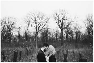 Séance photos couple en foret